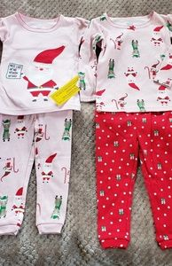 2 New Carters baby girls pj sets